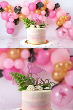 Baby Cake Smash, Flamingo Cake, Birthday Photography, Girl Cakes, 1st Birthday Girls, Luau, Birthday Cakes, Cali, First Birthdays