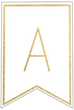Complete gold letters and numbers for banners DIY to customize for a birthday party, wedding, bridal or baby shower. Happy Birthday Banner Printable, Birthday Banner Template, Free Printable Banner Letters, Templates Printable Free, Happy Birthday Banners, Free Printables, Free Printable Numbers, Printable Art, Gold Banner