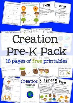 Free Creation Pre-K Printable Pack