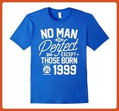 Mens 18th Birthday Shirt for 18 Years Old No Man Is Perfect 1999 XL Royal Blue - Birthday shirts (*Partner-Link)