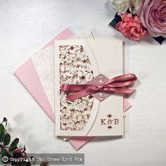 Stationery Samples: Vintage Roses Laser Cut von TheCrossEyedFox