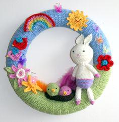 #Crochet spring / easter wreath