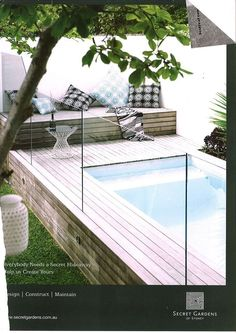 Raised pool decking around small pool – talk about dreaming but how nice! – Hemade Raised pool decking around small pool – talk about dreaming but how nice! Raised pool decking around small pool – talk about dreaming but how nice! Small Backyard Pools, Small Pools, Pool Decks, Outdoor Pool, Outdoor Spaces, Backyard Ideas, Garden Ideas, Pool With Deck, Small Swimming Pools