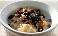 Grain Crazy: Coconut Brown Rice Pudding with Currants