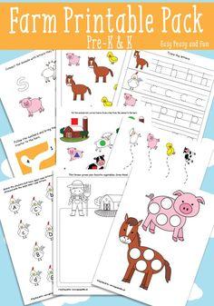 Farm Printables for Kids - Preschool and Kindergarten