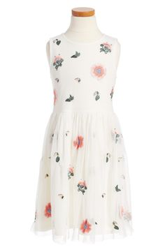 Main Image - Ruby & Bloom Embroidered Sleeveless Dress (Toddler Girls, Little Girls & Big Girls)