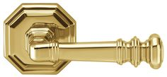 "Omnia 101/00PD Dummy Door Lever Set with 2-5/8"" Rosette from the Traditions II C Lacquered Polished Brass Leverset Dummy Set"