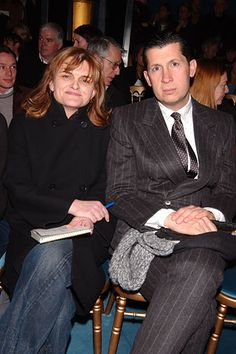Cathy Horyn and Stefano Tonchi of The New York Times at YSL F05