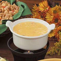 Crab Cheese Fondue.  Recipe found here: http://www.tasteofhome.com/Recipes/Quick-Crab-Fondue
