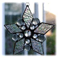 Diamond Star Suncatcher Stained Glass