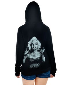 BURNOUT HOODIE - MARYLIN BLING