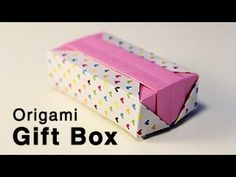 Origami Gift Box – Tutorial Video, Watch this origami gift box tutorial video to learn how to make a beautiful box with 2 lid variations. A pretty origami box perfect as a gift box. Origami Design, Diy Origami, Origami Gift Box, Origami Ball, Origami Paper Art, Origami Bookmark, How To Make Origami, Modular Origami, Useful Origami