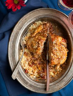 Moroccan Cornish Hens with Pine Nut Couscous.