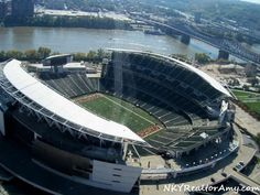 Helicopter Flight over Cincinnati Bengals Stadium Who Dey!  NKYRealtorAmy Photography