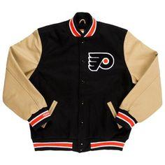 Mens Philadelphia Flyers Mitchell & Ness Black Varsity Jacket