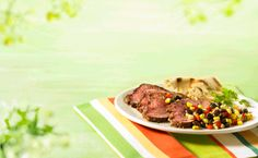 Carne Asada Tri-Tip with Salsa - Canadian Beef Marinated Steak, Grilled Beef, Sweet Red Pepper, Fresh Tomato Salsa, Tri Tip, Skirt Steak, Carne Asada, Peppers And Onions, How To Cook Steak