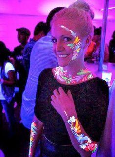 Glow in the Dark Men and Women Cheek Tattoos