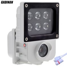 "GADINAN 3MP 2048*1536 IP Camera Hi3516D+1/3"" AR0330 H.265 6pcs Array IR or White Light Leds Optional Outdoor IP Security Camera"