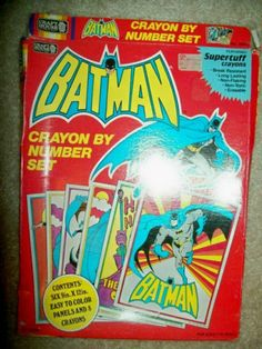 Vintage 1989 Batman Crayon by Number Set by Craft House Never Used | eBay
