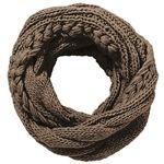 When in doubt, everyone always loves a good circle scarf! Cable Knit Infinity Scarf - Taupe $34
