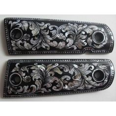 PEARL INLAY GRIPS FIT SMITH&WESSON / TAURUS / SPRINGFIELD / KIMBER / COLT 1911,1991 #106 $99.99