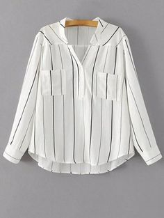 SHARE & Get it FREE | V Neck Full Sleeve Blouse - WhiteFor Fashion Lovers only:80,000+ Items • New Arrivals Daily Join Zaful: Get YOUR $50 NOW!