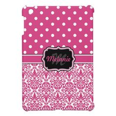 ==> consumer reviews          Hot Pink Monogrammed Damask Polka Dot iPad Mini Case           Hot Pink Monogrammed Damask Polka Dot iPad Mini Case lowest price for you. In addition you can compare price with another store and read helpful reviews. BuyDiscount Deals          Hot Pink Monogram...Cleck Hot Deals >>> http://www.zazzle.com/hot_pink_monogrammed_damask_polka_dot_ipad_mini_case-256594342117907149?rf=238627982471231924&zbar=1&tc=terrest