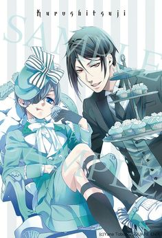 Ciel Phantomhive and Sebastian Michaelis Black Butler Sebastian, Black Butler Anime, Black Butler 3, Ciel Phantomhive, Anime Guys, Manga Anime, Anime Art, Black Rock Shooter, Fairy Tail