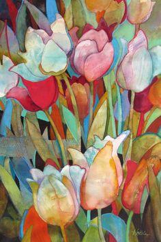 """Spring Tulips"" - by Wendy Westlake (watercolor)"
