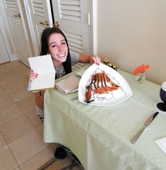 Stacy Bubes received her prom invitation in the form of a French toast breakfast, while on Spring Break in Florida.