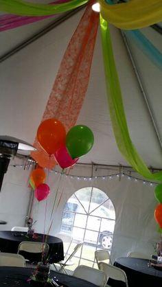 80's party decor bright idea. Dad Birthday, Birthday Party Themes, 80s Theme, Auction Ideas, 80s Party, Prom Ideas, Fundraising, Birthdays, Parties