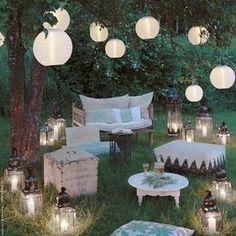 Beautiful light decoration! #summerfeeling #lampion #candles #lights