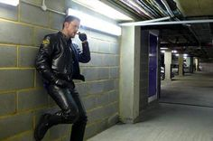 Smoking (hot) leather guy