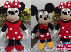Amigurumi Mickey Mouse (Miki Mause) Yapılışı Crochet Toys Patterns, Stuffed Toys Patterns, Crochet Dolls, Mickey Minnie Mouse, Disney Mickey, Walt Disney, Cute Little Baby, Little Babies, Miki Mouse