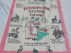 Housewife's Crying Towel By A.K.Novelty Dish by EvergreenLane