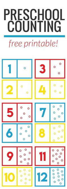 Free Preschool Math Counting Game!