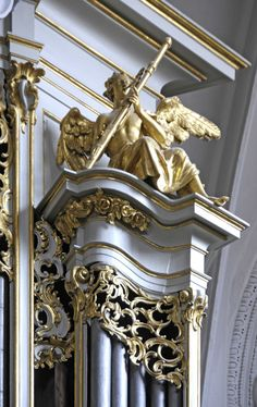 Bassoon Angel from Kirch am Hof or Church of the Farm.  It was built in 1386