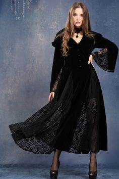 Aliexpress.com : Buy Black Long Sleeve  coat Gothic Vampire Punk Scene gown JW011 from Reliable dress wallet suppliers on DARK IN LOVE  | Alibaba Group