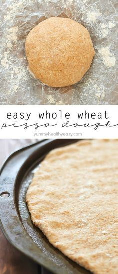 Super Easy Whole Wheat Pizza Dough – no rising needed! Quick, healthy and delicious crust for your favorite pizza!