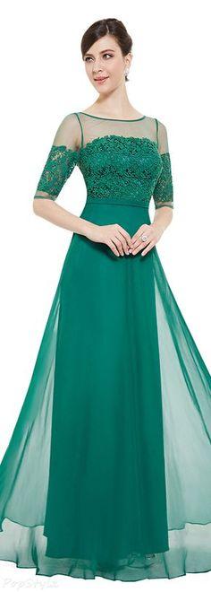 Ever Pretty 08459 Lace Illusion Half Sleeve Elegant Evening Dress/Prom Gown jαɢlαdy