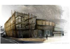 New Zealand School of Music.  Design/Rendering by Graci Salisbury Mills.