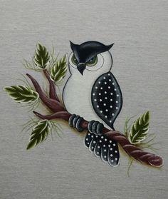 Ideas kids canvas art ideas animals for 2019 Art Drawings For Kids, Bird Drawings, Pencil Art Drawings, Tole Painting, Fabric Painting, Kids Canvas Art, Owl Patterns, Owl Art, Hand Embroidery Designs