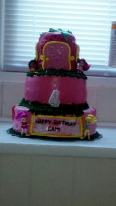 Strawberry Shortcake. My first tiered fondant cake. It all started with this!