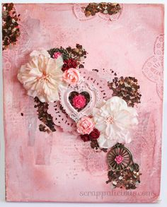 Mixed media canvas using a kit from My creative Scrapbook