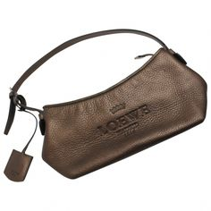 PREOWNED DESIGNER BAGS · Loewe Metallic Brown Leather Shoulder Bag for sale  £115 http   www. ef965905e1