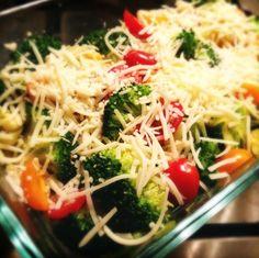 Gegratineerde broccoli met prei en kerrie