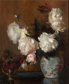 The Athenaeum - Peonies Edmund Tarbell - 1930 Private collection Painting - oil on canvas Height: 76.2 cm (30 in.), Width: 63.5 cm (25 in.)