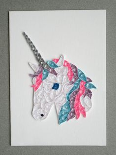 Unicorn Wall Art Unicorn Nursery Art Nursery Decor by SarahEGillis