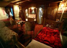First class in the past  A computer-generated image shows the first-class accommodations that were available aboard the Titanic.  Peter Muhly / AFP - Getty Images Titanic Belfast opens - Slideshows and Picture Stories - NBCNews.com