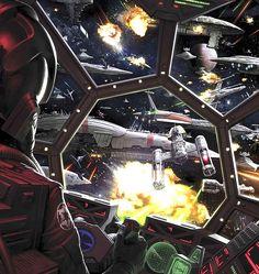 Star Wars Space Battle.  #SpaceShips  #Starships  #StarWars  #SpaceBattle